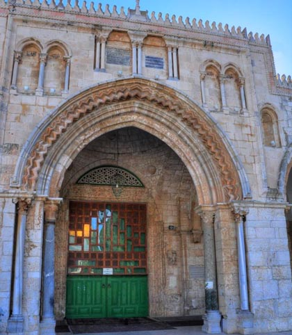 Templar arches on Temple Mount in Jerusalem